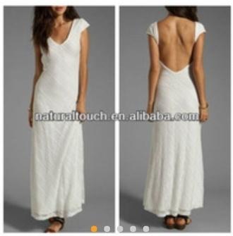 dress formal formal dress open back prom dress cap sleeves dresses white dress maxi dress maxi prom dress form fitting dress