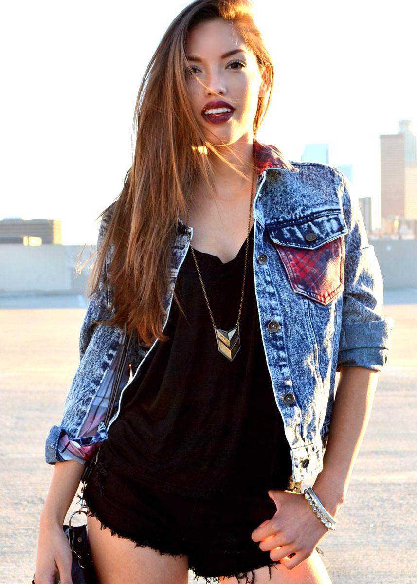 Tough plaid denim jacket – shopcivilized