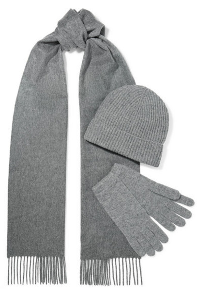 Johnstons of Elgin - Cashmere Beanie in gray