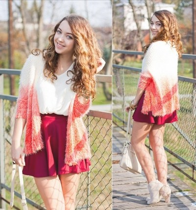 yourfashionsandcute | Ombre Open Front Mohair Cardigan | Online Store Powered by Storenvy