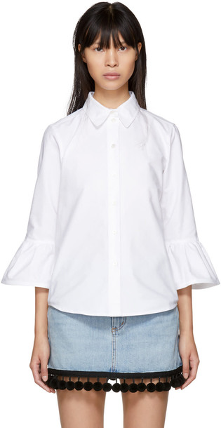 shirt ruffle white top