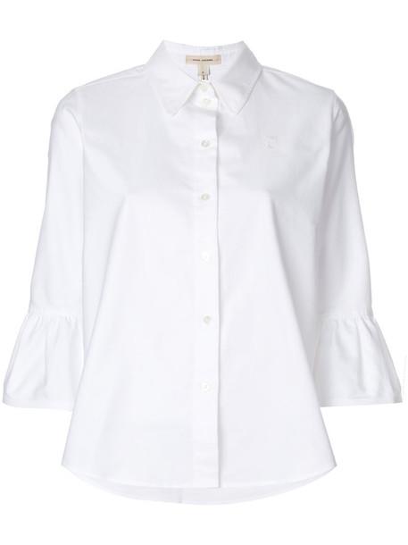 Marc Jacobs shirt ruffle women white cotton top