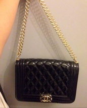 bag,channel black gold chain sexy cheapversion,little black bag