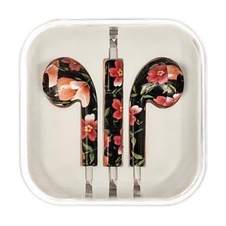 earphones iphone flowers apple earphones floral floral earphones