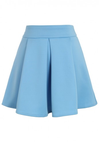 Cheering Blue Mini Skater Skirt - Retro, Indie and Unique Fashion