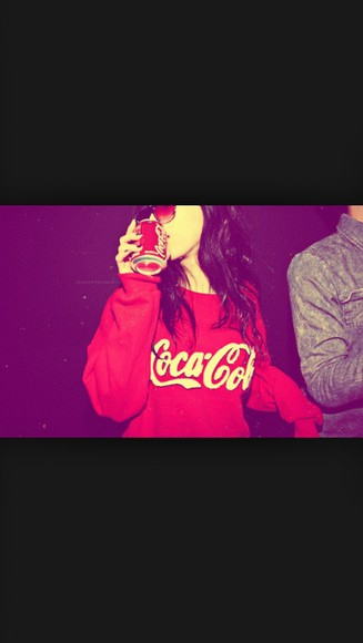 sweater cute red sweater red, coke, adorable want this now pleaseeee coca cola