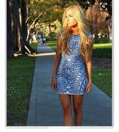 dress,blue dress,homecoming dress,aztec dress,tight