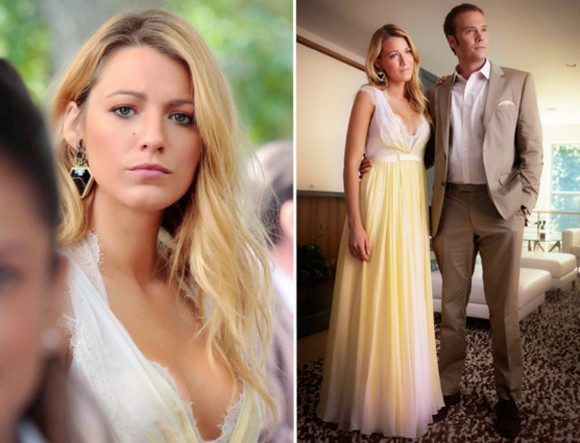 dentelle dress maxi dress beautiful dress gossip girl yellow serena van der woodsen