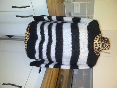 Black white striped topshop  jumper size 10