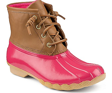 Womens Sperry Top-Sider Saltwater Boot, Brown Navy, at Journeys Shoes