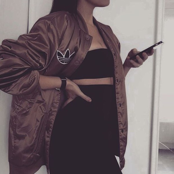 jacket brown cute fall outfits fall outfits winter outfits bomber jacket khaki bomber jacket adidas adidas jacket top baseball jacket black adidas sweater fashion dope college jacket oversized brown jacket dress black dress adidas brown jacket