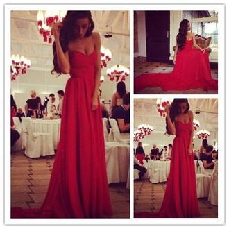 dress prom dress sweetheart dresses red dress sexy dress