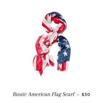 scarf american flag rustic