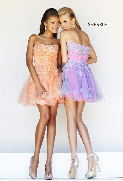 Strapless Embellished Short Cocktail Dress Cute [Embellished Short Dress 11062] - $146.00 : Discover Unique Dresses Online at PromUnique.com