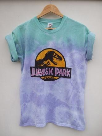 t-shirt dip dyed jurassic park