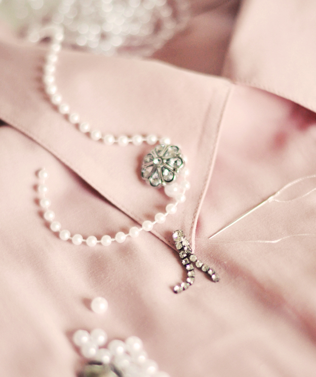 Embellished Collar DIY | Pearls & Vintage Rhinestones OHMY | ...love Maegan