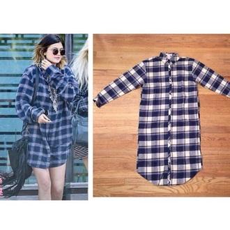 shirt kylie jenner love style fashion plaid dress