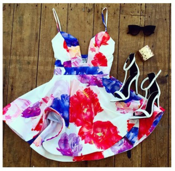 dress short fashion style short dress floral floral printed dress spring girly dress classy elegant dress girl girly floral floral mini dress mini floral dress