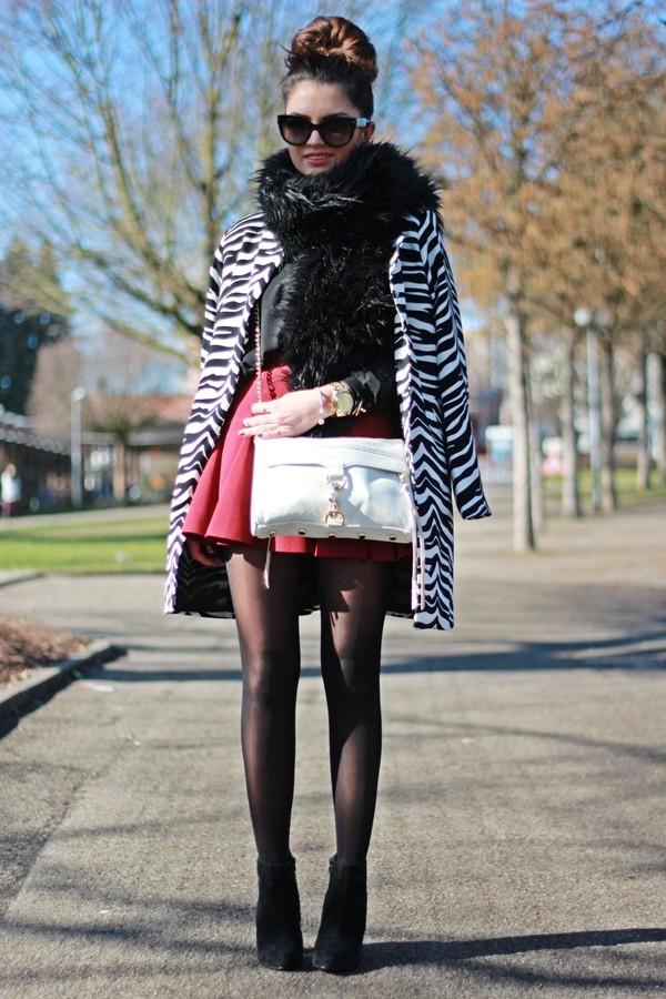 fashionhippieloves coat blouse skirt shoes sunglasses bag jewels scarf