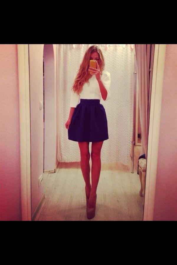 skirt black skirt blouse