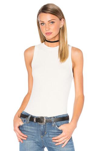 bodysuit sleeveless white