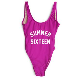 swimwear one piece swimsuit summer magenta