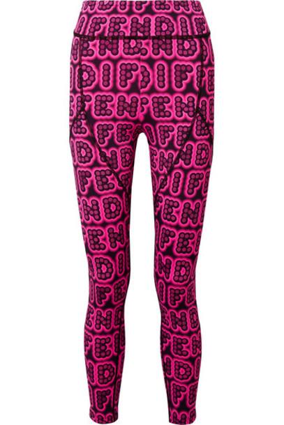 Fendi leggings pink bright pants