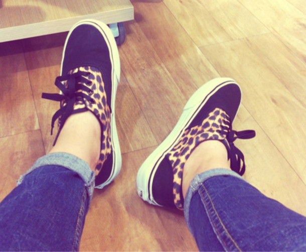 vans era leopard print shoes