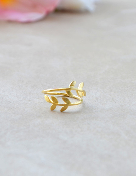 leaf jewels gold gold leaf ring ring gold rings gold ring leaf ring