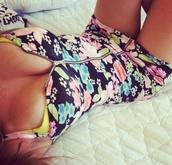 dress,floral,zip,front zipper,h&m