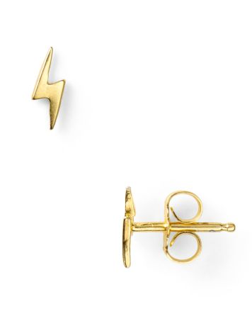 Dogeared Little Things Mini Gold Lightning Bolt Earrings | Bloomingdale's