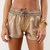 Brown Shorts - Bronze Metallic Mini Shorts with | UsTrendy