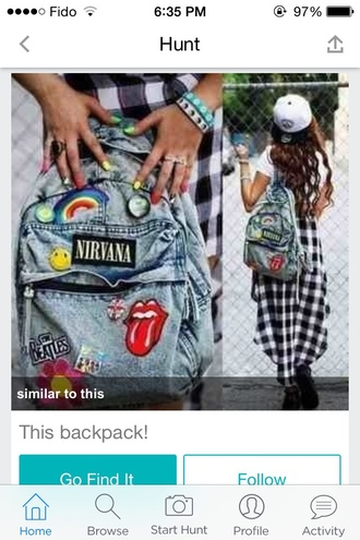 nirvana backpack denim rock