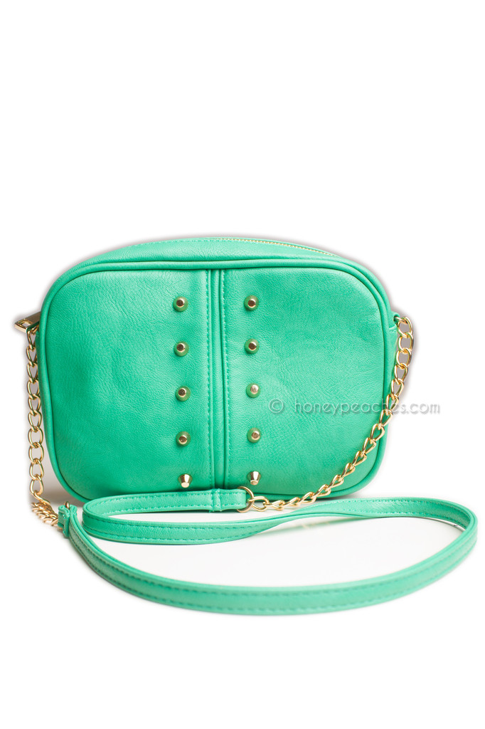 Alicia Stud Bag - Jade – Honey Peaches