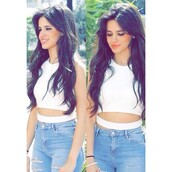 top,white crop tops,camila cabello,cut out crop top