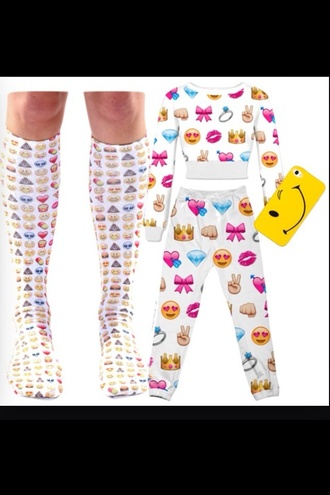 pants emoji pants emoji socks emoji crop top