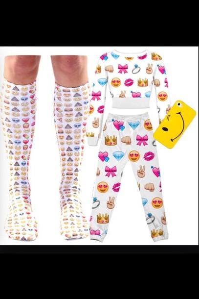 pants emoji pants emoji socks emoji crop top