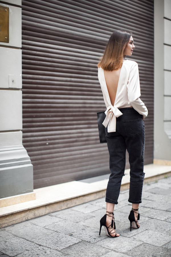 fashion agony blogger top jeans bag shoes