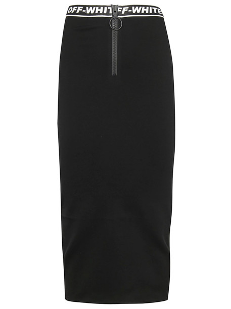 Off-white Long Length Logo Skirt in black