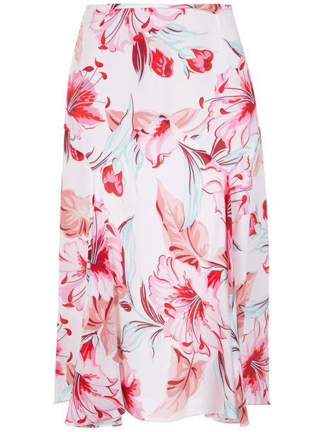 Reinaldo Lourenço skirt floral skirt women floral silk purple pink