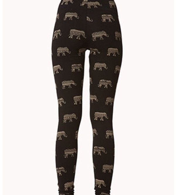 pants elephant tribal pattern aztec leggings printed leggings hipster