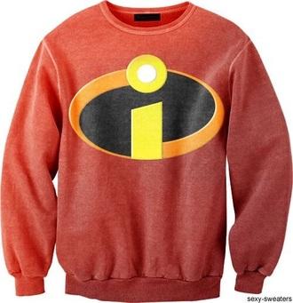 sweater pixar red incredible disney