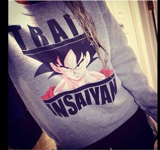 dbz sweater pullover grey grey sweatshirt