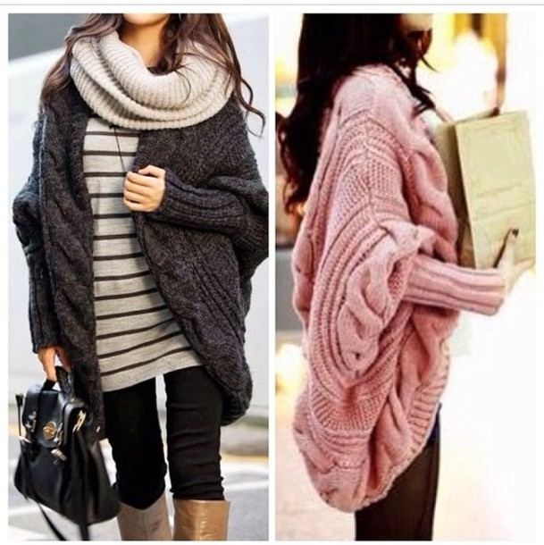 Sweater: oversized sweater, sexy sweater, winter sweater, knitted sweater, kn...