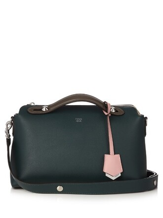 cross bag leather dark green
