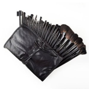 Amazon.com: 32 Pcs Black Rod Makeup Brush Cosmetic Set Kit with Case: Beauty