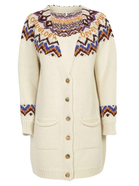 LOEWE cardigan cardigan white multicolor sweater