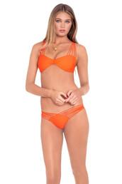 orange,luli fama,bikini top,strappy bikini,strappy swimwear,bikini luxe,beach,top