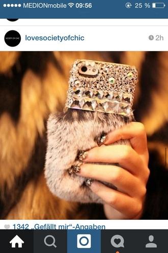 phone case beige glamour