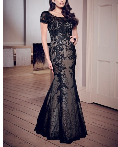 dress evening dress evening dress prom prom dress prom dress black dress black dress mermaid/trumpet trumpet/mermaid prom dress cap sleeve dress floor length dress
